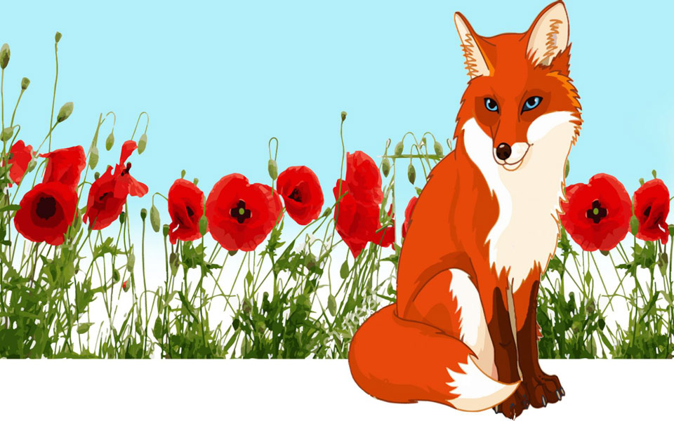 nor_fox_in_poppies