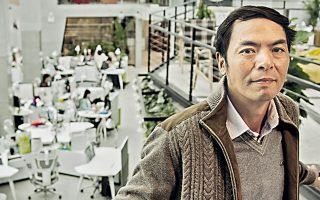 Ο Αλέν Ζανγκ, συντονιστής της ομάδας, που από το 2010 αναπτύσσει το Ουεϊσίν.