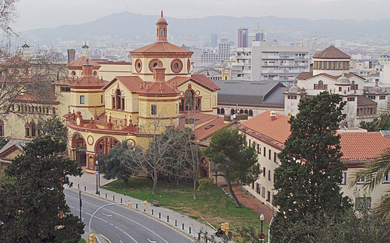 Το Mercat de les Flors δεσπόζει στον λόφο της περιοχής Montjuic.