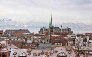Χειμωνιάτικη άποψη της πόλης.