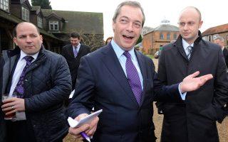 Ο ηγέτης του το εθνικιστικού UKIP στη Βρετανία.