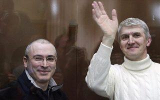 O Μιχαήλ Χοντορκόφσκι (A) και ο Πλάτον Λεμπέντεφ (Δ)