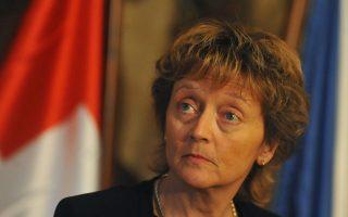 Η Ελβετή υπουργός Οικονομικών Εβελιν Βίντμερ–Σλουμπφ.
