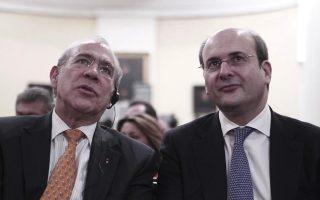 Ο Υπουργός Ανάπτυξης και Ανταγωνιστικότητας κ. Κωστής Χατζηδάκης με τον Γενικό Γραμματέα του Οργανισμού Οικονομικής Συνεργασίας και Ανάπτυξης (ΟΟΣΑ) κ. Ανχέλ Γκουρία.