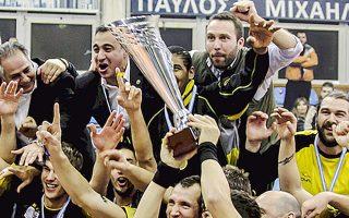 Στην Αλεξανδρούπολη η ΑΕΚ κατέκτησε το πρώτο της τρόπαιο στο ανδρικό βόλεϊ.