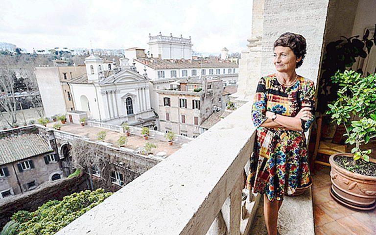 Η Κατρίν Βιρλουβέ, διευθύντρια της Ecole Française στη Ρώμη.
