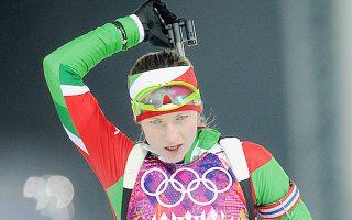 H Ντάρια Ντομράτσεβα (Λευκορωσία) πρώτευσε στα 10 χλμ. του διάθλου.