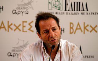 Ο ηθοποιός Δημήτρης Λιγνάδης.