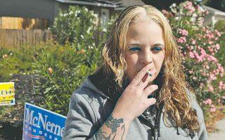 Με την κατάθλιψη παλεύει από την εφηβική της ηλικία, η 28χρονη πλέον Νάντια Μακάφρεϊ από το Τρέισι της Καλιφόρνια.