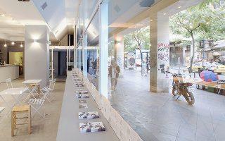 Το αστικό «εργαστήριο» του Reactivate Athens επί της οδού Αθηνάς.