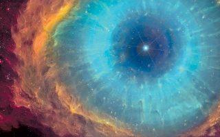 «Το Μάτι του Θεού», νεφέλωμα. Σύμφωνα με τον Hubert Reeves, το «Απειρο δεν έχει όρια και τέλος, επομένως είναι δίχως επέκεινα. Εννοια που η φαντασία μας δεν μπορεί να συλλάβει. Το μυαλό μας γοητεύεται από την υπέρβαση των ορίων, αλλά ταυτόχρονα την απωθεί, αφού δεν μπορεί να την συλλάβει, την αφορίζει».