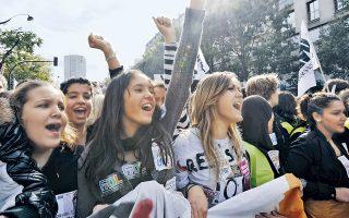 Η μαχητικότητα της γαλλικής νεολαίας πρέπει να θεωρείται δεδομένη. Εδώ, διαδήλωση φοιτητών το 2010, κατά των σχεδίων της κυβέρνησης για την ασφάλιση.