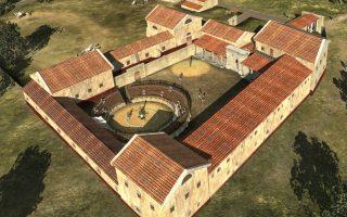 Μια ομάδα από Αυστριακούς, Γερμανούς και Βέλγους αρχαιολόγους χρειάστηκε για να δημιουργηθεί αυτή η τρισδιάστατη εικόνα. Οι αρχαιολόγοι κατάφεραν να αναπαραστήσουν με ακρίβεια πως έμοιαζε ένα ρωμαικό  σχολείο μονομάχων, βασισμένοι στις ανασκαφές του Carnuntum, κοντά στην Βιέννη.AFP PHOTO / 7reasons/  MICHAEL KLEIN
