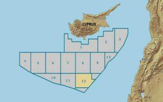 Ο χάρτης με τα οικόπεδα της κυπριακής ΑΟΖ.