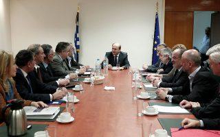 Ο υπουργός Ανάπτυξης και Ανταγωνιστικότητας Κωστής Χατζηδάκης συναντήθηκε με τους εκπροσώπους των ΓΣΕΕ, ΓΣΕΒΕΕ, ΕΣΕΕ, ΣΕΒ και ΣΕΤΕ με αντικείμενο τη νέα προγραμματική περίοδο του ΕΣΠΑ.