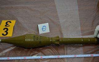 Εκτοξευτήρας ρουκέτας που βρέθηκε στο αυτοκίνητο στο Π. Φάληρο.
