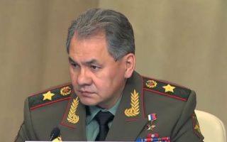 Ο υπουργός Αμυνας της Ρωσίας, Σεργκέι Σοϊγκού.