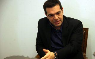 Στιγμιότυπο από την συνάντηση που είχε σήμερα ο Πρόεδρος του ΣΥΡΙΖΑ Αλέξης Τσίπρας με την Πανελλήνια συντονιστική επιτροπή αγροτών.