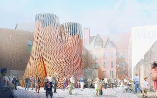 Xτισμένο με οργανικά, βιοδιασπώμενα τούβλα, το κτιριακό σύμπλεγμα «Hy-Fi» αποδεικνύει πως οι πόλεις του μέλλοντος μπορούν να είναι βιώσιμες.