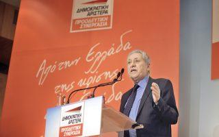 Ο κ. Φ. Κουβέλης, στη χθεσινή εκδήλωση, επισημοποίησε τη μετονομασία της «διευρυμένης» ΔΗΜΑΡ σε «Δημοκρατική Αριστερά - Προοδευτική Συνεργασία».