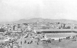 Η Δημοτική Αγορά Χαλκίδας πριν από την προσθήκη του Σόλωνα Κυδωνιάτη στη δεκαετία του '30.
