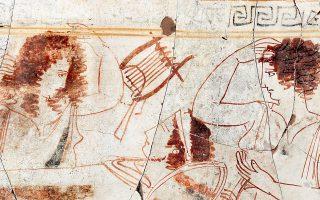 Συγκινητική και αποκαλυπτική είναι η σκηνή του «νεκρικού θρήνου», έτσι όπως αποτυπώνεται στα νέα ευρήματα των βασιλικών τάφων στις Αιγές. Πέντε νέοι, πλούσια κτερισμένοι, τάφοι, που έφερε πρόσφατα στο φως η αρχαιολογική σκαπάνη, αναδεικνύουν την υψηλή τέχνη της αρχαίας Μακεδονίας. Σελ. 16