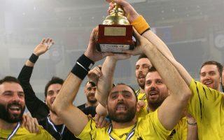 Η ΑΕΚ επικράτησε του Διομήδη Αργους με 18-16 και κατέκτησε το 3ο Κύπελλο Ελλάδος στην ιστορία της.