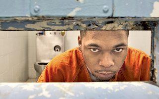 Ο τραγουδιστής της ραπ Αντουέιν Στιούαρτ, στις φυλακές του Νιούπορτ Μιουζ της Βιρτζίνια.