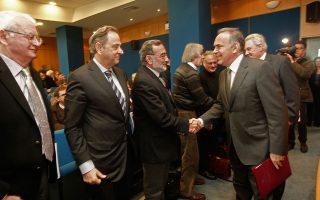 Ο υπουργός Παιδείας Κωνσταντίνος Αρβανιτόπουλος στην συνάντηση με τους πρυτάνεις και τα μέλη των συμβουλίων των ΑΕΙ.