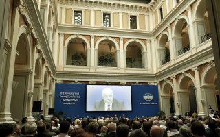 Ο πρόεδρος της Εθνικής Τράπεζας της Ελλάδος Γιώργος Ζανιάς μιλά σε μετόχους της τράπεζας κατά τη διάρκεια της Β' Επαναληπτικής Γενικής Συνέλευσης των μετόχων, Αθήνα, Μ. Δευτέρα 29 Απριλίου 2013. Η Β' Επαναληπτική Γενική Συνέλευση της Εθνικής Τράπεζας συγκλήθηκε με θέμα την αύξηση του μετοχικού της κεφαλαίου στο πλαίσιο της ανακεφαλαιοποίησης. ΑΠΕ-ΜΠΕ/ΑΠΕ-ΜΠΕ/ΑΛΚΗΣ ΚΩΝΣΤΑΝΤΙΝΙΔΗΣ