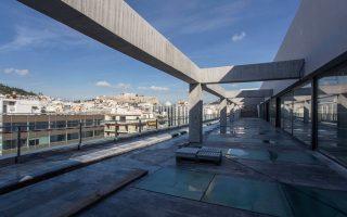 Το τέταρτο επίπεδο του κτιρίου, εκεί όπου θα στεγάζεται το εστιατόριο του μουσείου, με ξεχωριστή θέα προς την Ακρόπολη.
