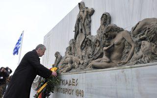Ζητώ «συγγνώμη» από τις οικογένειες των θυμάτων, σημείωσε από τους Λιγκιάδες ο Γερμανός Πρόεδρος, Γ. Γκάουκ.