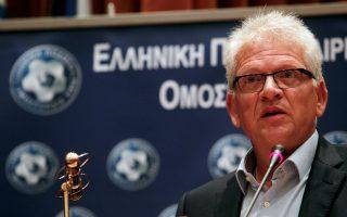 Ο πρόεδρος του Δ.Σ. της Ελληνικής Ποδοσφαιρικής Ομοσπονδίας (ΕΠΟ) Γιώργος Σαρρής.