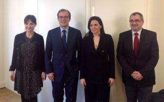 Συνάντηση της υπουργού Τουρισμού Όλγας Κεφαλογιάννη με τον Κριστιάν Μαντέι, γενικό διευθυντή του Αtout France.