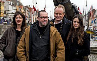 Ο Λαρς φον Tρίερ με τους πρωταγωνιστές του Nymphomaniac.