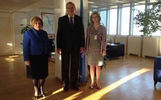Η Εθνική Συντονίστρια για την Αντιμετώπιση των Ναρκωτικών, δρ. Χριστίνα Παπουτσοπούλου-Διαμαντοπούλου με τον επικεφαλής του Γραφείου του ΟΗΕ για τα Ναρκωτικά και το Έγκλημα (UNODC), Γιούρι Φεντότοφ και την Υφυπουργό Υγείας, κα. Ζέττα Μακρή