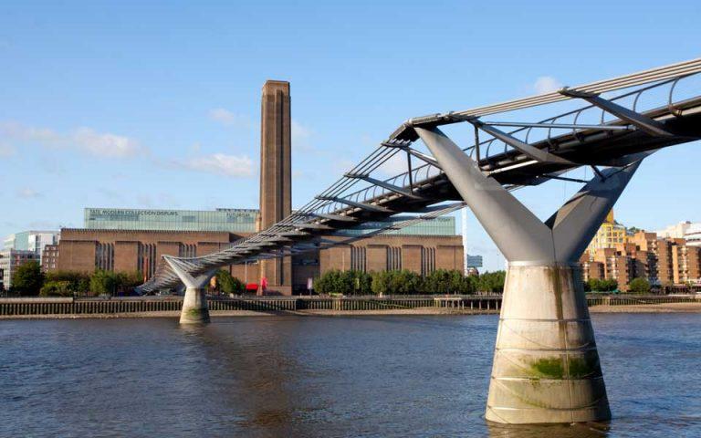 Αποψη της Tate Modern από την απέναντι όχθη του Τάμεση.