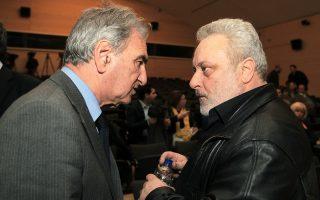 Οι βουλευτές Σπύρος Λυκούδης (αριστερά) και Γρηγόρης Ψαρριανός.