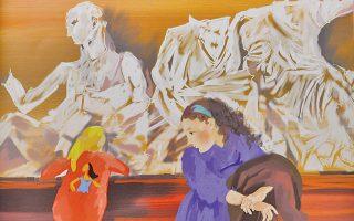 Mπροστά στην Περσεφόνη και τη Δήμητρα χωρίς τα κεφάλια τους, πλάι στον Διόνυσο, η δική μας Aλίκη κοίταζε το ξανθό κοριτσάκι με την Ποκαχόντας στο μπουφάν του...