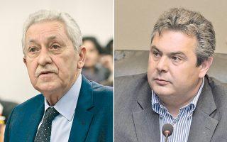 Ο κ. Φ. Κουβέλης επανέλαβε ότι «οι συνομιλίες Μπαλτάκου - Κασιδιάρη εγείρουν μεγάλο πολιτικό ζήτημα», ενώ για «συνταγματική εκτροπή» έκανε λόγο ο Π. Καμμένος.