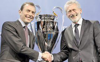 Εμίλιο Μπουντραγκένιο (αρ.), Πολ Μπράιτνερ. Δύο «ιερά τέρατα» του παγκοσμίου ποδοσφαίρου, εκπροσώπησαν τις Ρεάλ και Μπάγερν, αντίστοιχα.