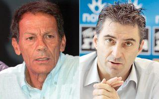 Ο μουσικοσυνθέτης Σταύρος Ξαρχάκος και ο πρώην αρχηγός της εθνικής ομάδας ποδοσφαίρου Θοδωρής Ζαγοράκης.