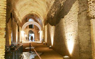 Αποψη των εσωτερικών χώρων της έπαυλης του Νέρωνα, από τον 1ο μ.Χ. αιώνα.