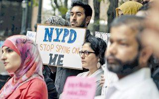 Φωτογραφία αρχείου από διαδήλωση διαμαρτυρίας του περασμένου Αυγούστου εναντίον του προγράμματος παρακολουθήσεων μουσουλμάνων από το NYPD.