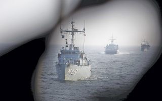 Το βελγικό ναρκαλιευτικό «Belis» και άλλα πολεμικά σκάφη του ΝΑΤΟ αναπτύσσονται στις γερμανικές ακτές της Βαλτικής, στο πλαίσιο μέτρων για την ενίσχυση της περιφερειακής ασφάλειας, με φόντο την ουκρανική κρίση.