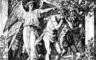Julius Schnorr von Carolsfeld: Η Εκδίωξη των Πρωτοπλάστων από τον Παράδεισο, ξυλογραφία, 1860.