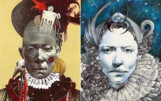 «Snow Queen» και «Heart of Darkness», δύο από τα έργα της Κατερίνας Χαδουλού.
