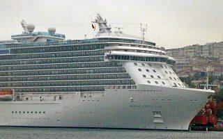Το MS Regal Princess, που τον Μάιο θα δέσει στο λιμάνι του Πειραιά.