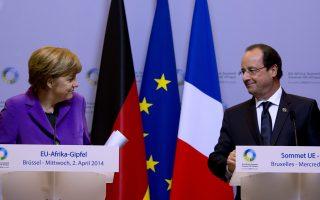 Γαλλία και Γερμανία μπορεί να συγκρούονται από καιρού εις καιρόν για την οικονομική πολιτική, αλλά κατά βάθος Μέρκελ και Ολάντ γνωρίζουν ότι είναι «καταδικασμένοι» να φτάνουν σε συμβιβασμό. Το ίδιο αναμένεται να γίνει και με τα νέα δημοσιονομικά παραστρατήματα της Γαλλίας.