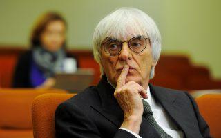Ο 83χρονος διευθύνων σύμβουλος της F1 κατηγορείται ότι δωροδόκησε τραπεζίτη με 45 εκατ. ευρώ.